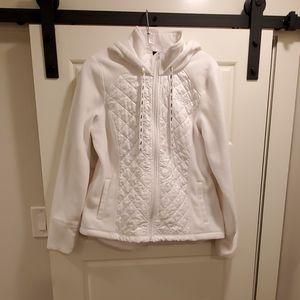 Fila Women's White Hoodie Fleece Full Zip